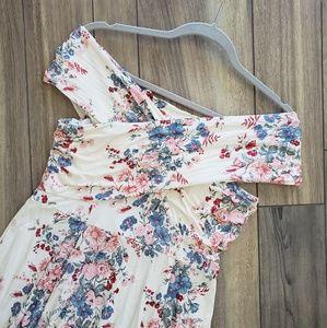 Flirty Sun Dress - Off The Shoulder - Floral/Cream